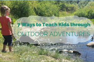 Easy ideas for teaching kids while playing outside