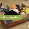 Every few months I have to take a shoebox full of junk toys and throw them in the trash, and then a little part of me cries. We're drowning in small plastic detritus.