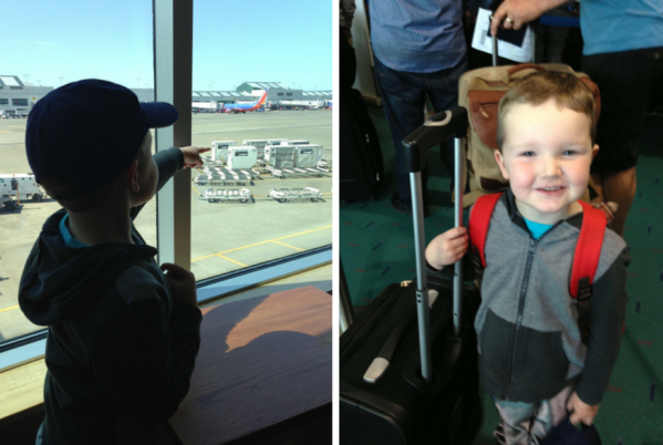 child at pdx airport