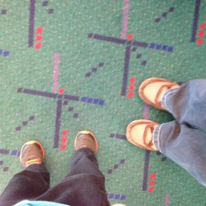 Safely home on our PDX carpet!