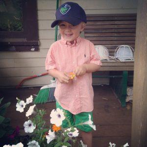 My son Oscar on his first day of nursery school.