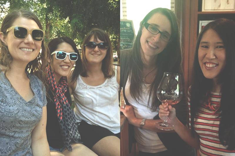 Wine tasting with my college besties!