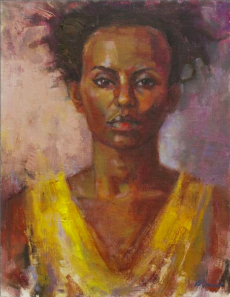 Woman in Yellow Dress