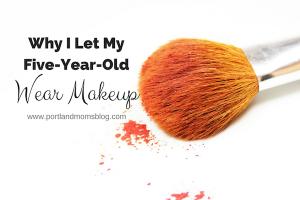 Little girls wearing makeup
