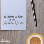 A Letter to the On-Call Advice Nurse