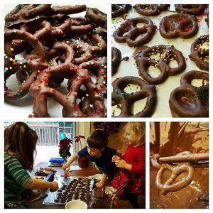Easy Chocolate covered pretzels cookies