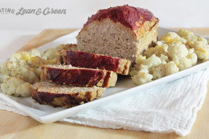 Turkey Meatloaf and Cauliflower from EatingLeanAndGreen.com
