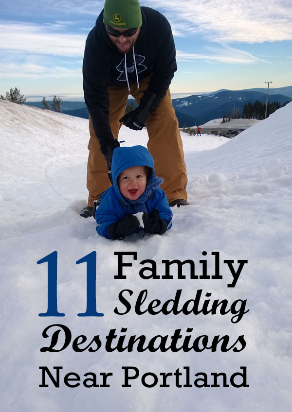 Family sledding destinations near Portland