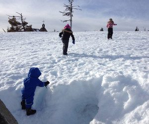 sledding near Portland, snow, sno-parks