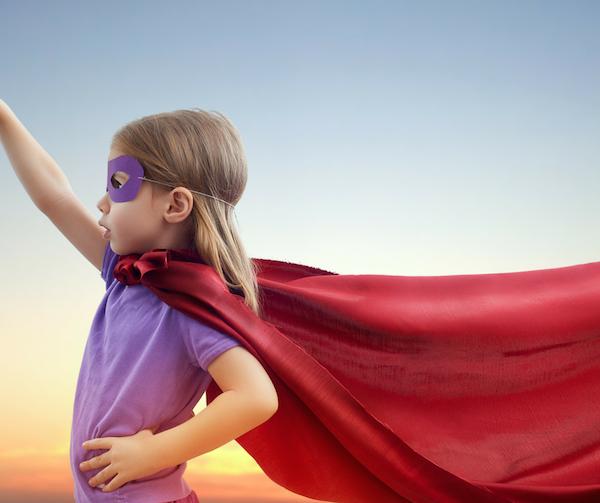 Girl superhero, body image