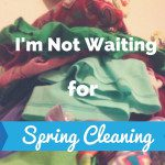 I'm Not Waiting for Spring Cleaning