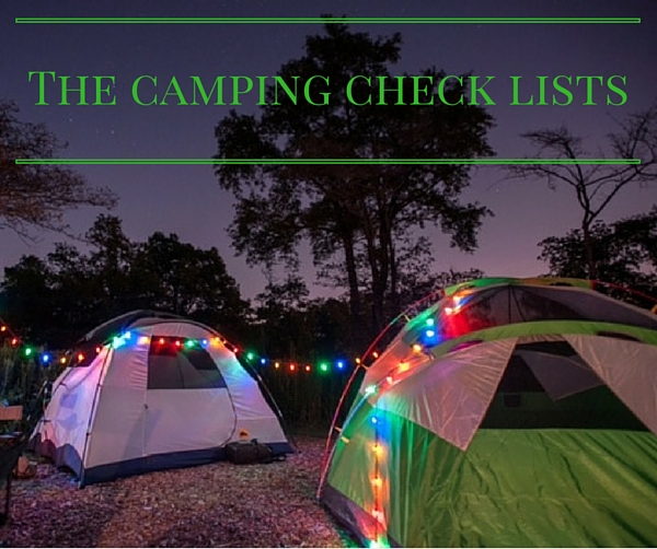 Camping checklist, camping with kids, family camping checklists