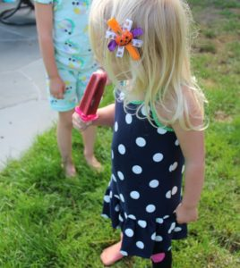 Popsicle by mama, outfit by kiddo.
