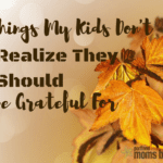 20 Things My Kids Don't Realize They Should be Grateful For