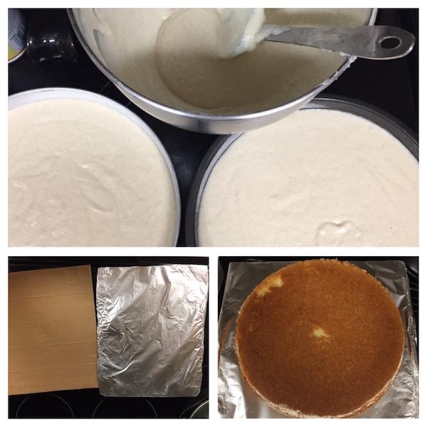 baking the birthday cake