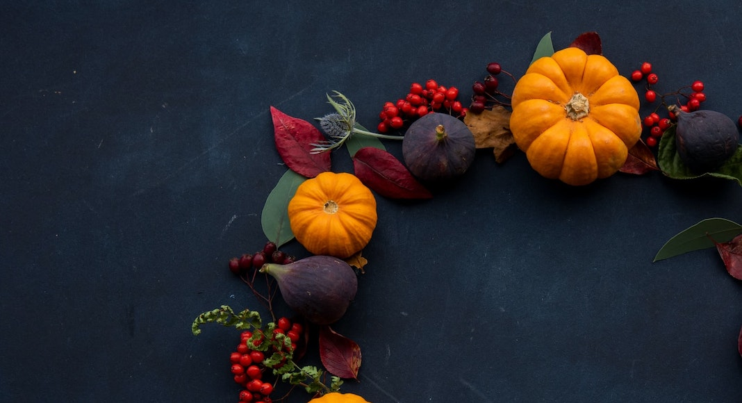 Picture of Fall Wreath with Pumpkins