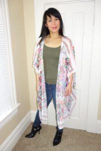 Portland Spring Looks - Kat Depner wearing kimono