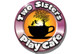 Logo for Two Sisters Play Cafe Birthday Party