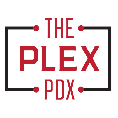 Logo for The Plex PDX Birthday Party