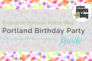 Logo for 2019-2020 Portland Birthday Party Guide