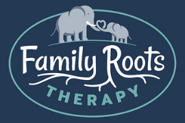 Logo for Family Roots Therapy for Portland Mom & Baby Guide