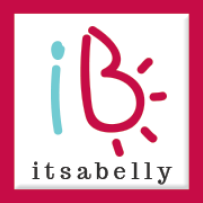 It's a Belly logo for Portland Mom & Baby Guide