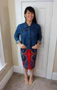Fall Look: Summer Dress With Jean Jacket
