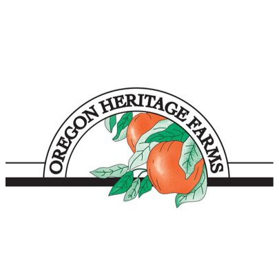 Logo of apples for Oregon Heritage Farms for the Portland Pumpkin Patch Guide