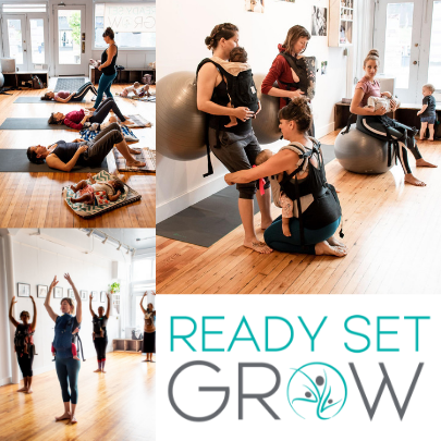 Collage of images from classes at Ready Set Grow
