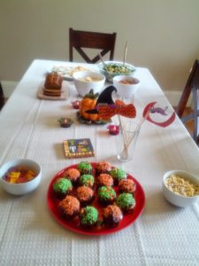 Table with foods kids will eat
