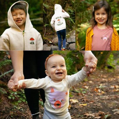 Children playing and smiling while wearing the Brave New People Line from Tender Loving Empire