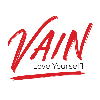 VainSpa logo with Vain in red and the words Love Yourself! below