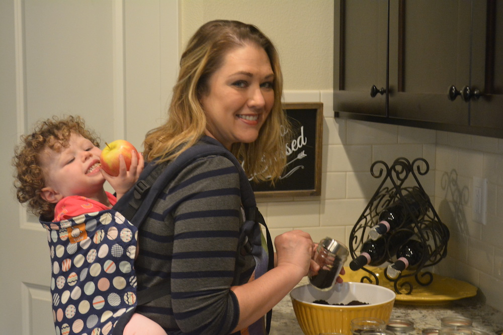 Healthy Holiday Eating - Brandee with Baby