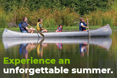 Photo of children canoeing at OES Summer Camp