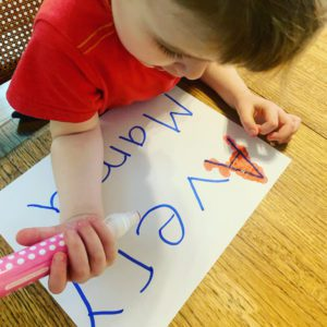 Tracing Letters with Markers