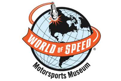 World of Speed Motorsports Museum logo with Globe for Summer Camps guide