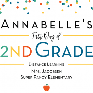 First Day of School Printable - Confetti