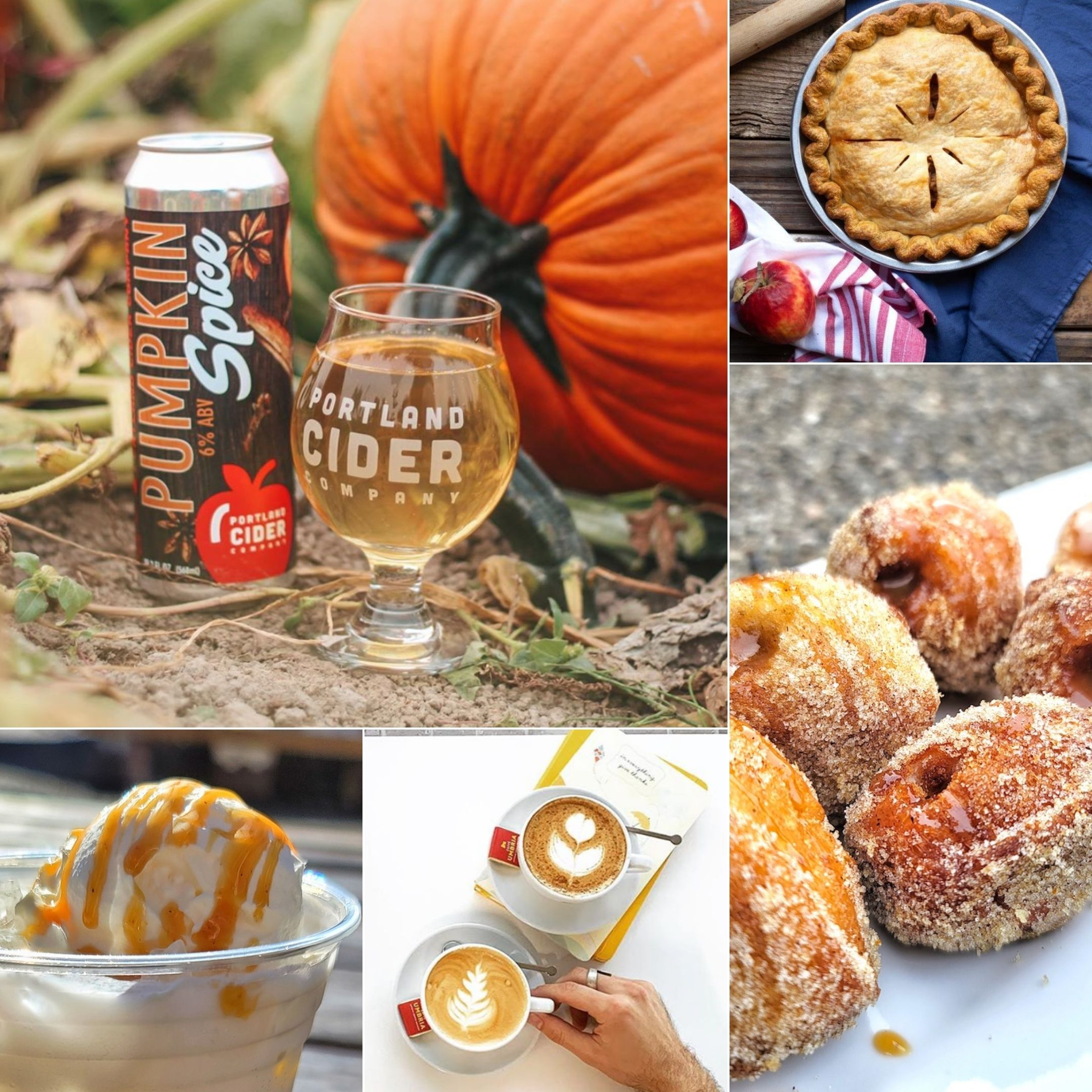collage with fall food specials
