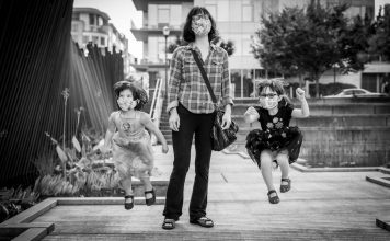 Kids Jumping during Photoshoot with Shoott