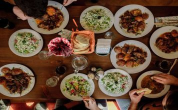Dinner Table with Food