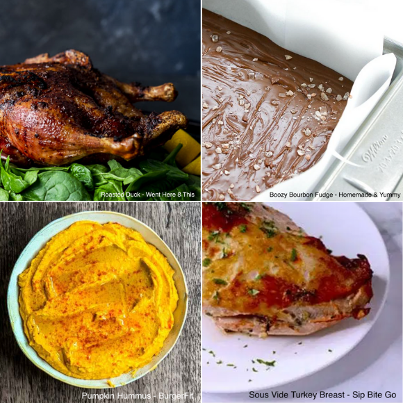 collage of holiday dishes