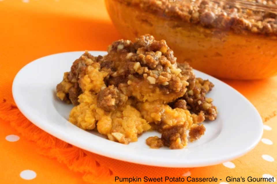 Pumpkin Sweet Potato Casserole