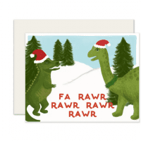 Collage Dinosaur Card