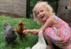 Kid with Backyard Chickens
