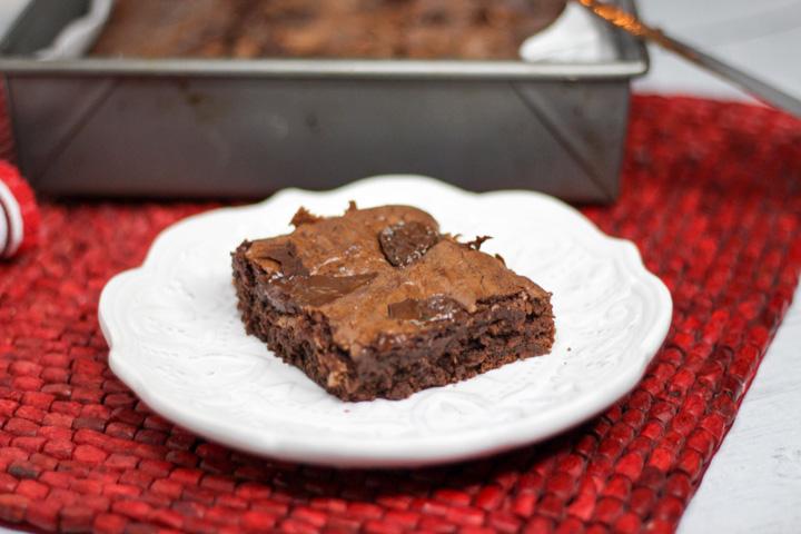 fudge brownies on a plate