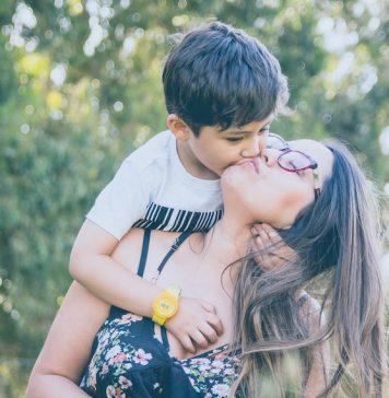 Kid hugging mom