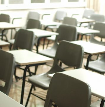 Empty Classroom Chairs