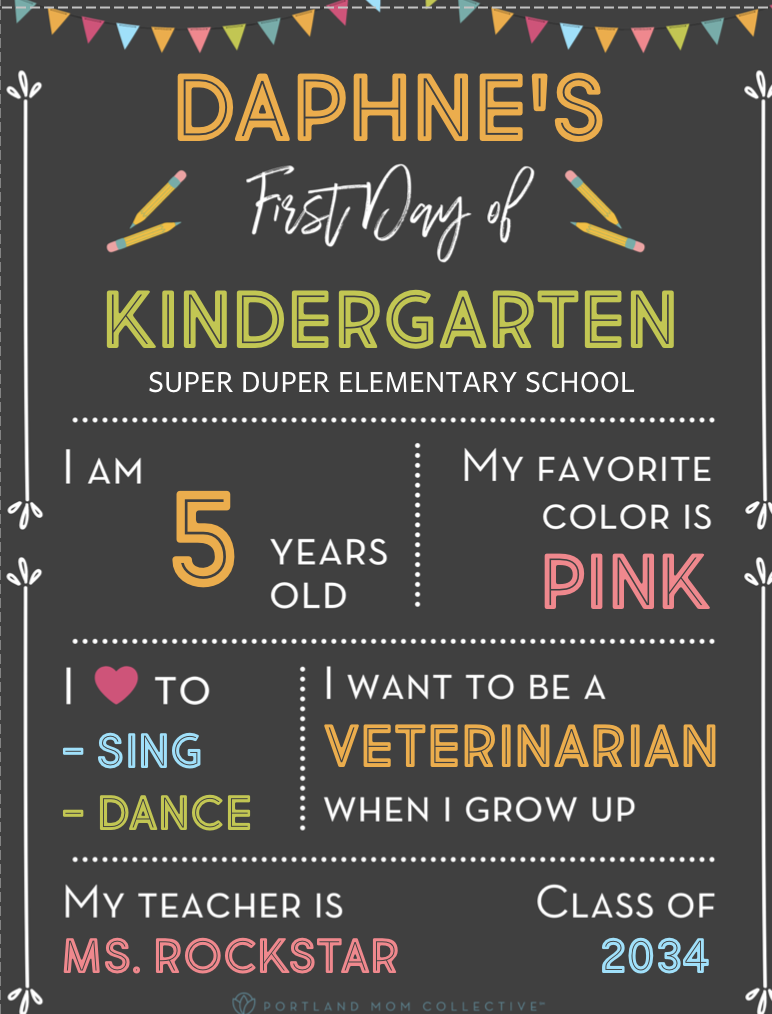 First Day of School Printable 2021